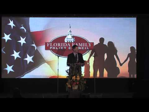 Sen. Marco Rubio speaks at the Florida Family Policy Council's 2013 Awards Dinner