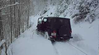 Jeep Wrangler Ostersonntag Bergung im Schnee. videos