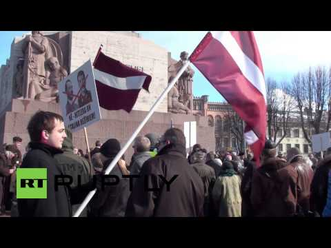 Latvia: Waffen SS Nazi allies march through centre of Riga