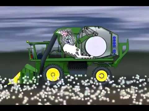 Novas colheitadeiras de algodão John Deere