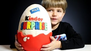 Giant Kinder Surprise Egg made of Play-Doh​​​