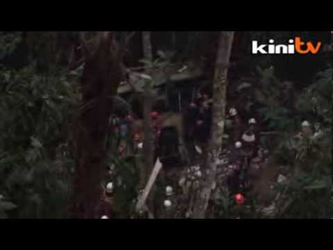 RAW: Bus plunges into Genting ravine, 37 killed