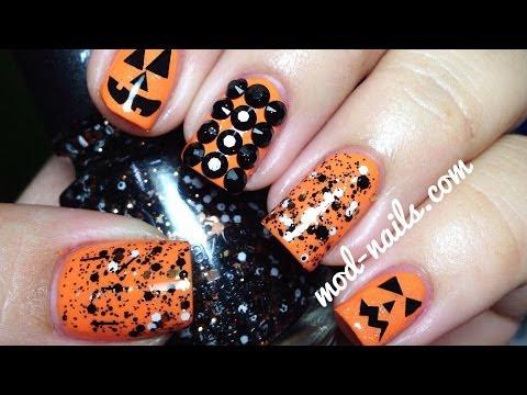 Easy Pumpkin Nails!