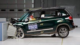 Fiat 500L kaza testi - IIHS 2014