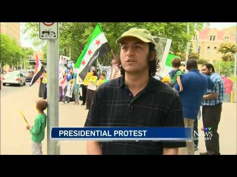 CTV Calgary Coverage of Protest Against Fake Elections in Egypt & Syria