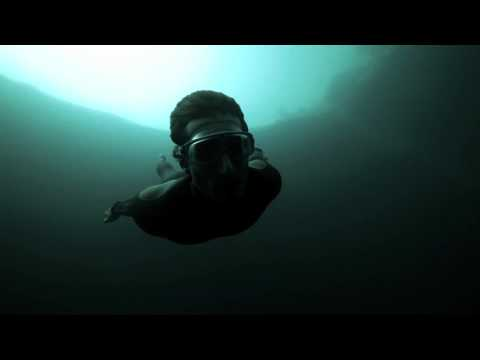 Guillaume Nery base jumping at Dean's Blue Hole, filmed on breath hold by Julie Gautier1080p H 264 AAC