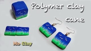 Diy, How To Make Landscape Cane Polymer Clay Earrings