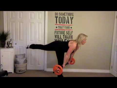 Barbell and Cardio HOME Workout Routine for Men and Women