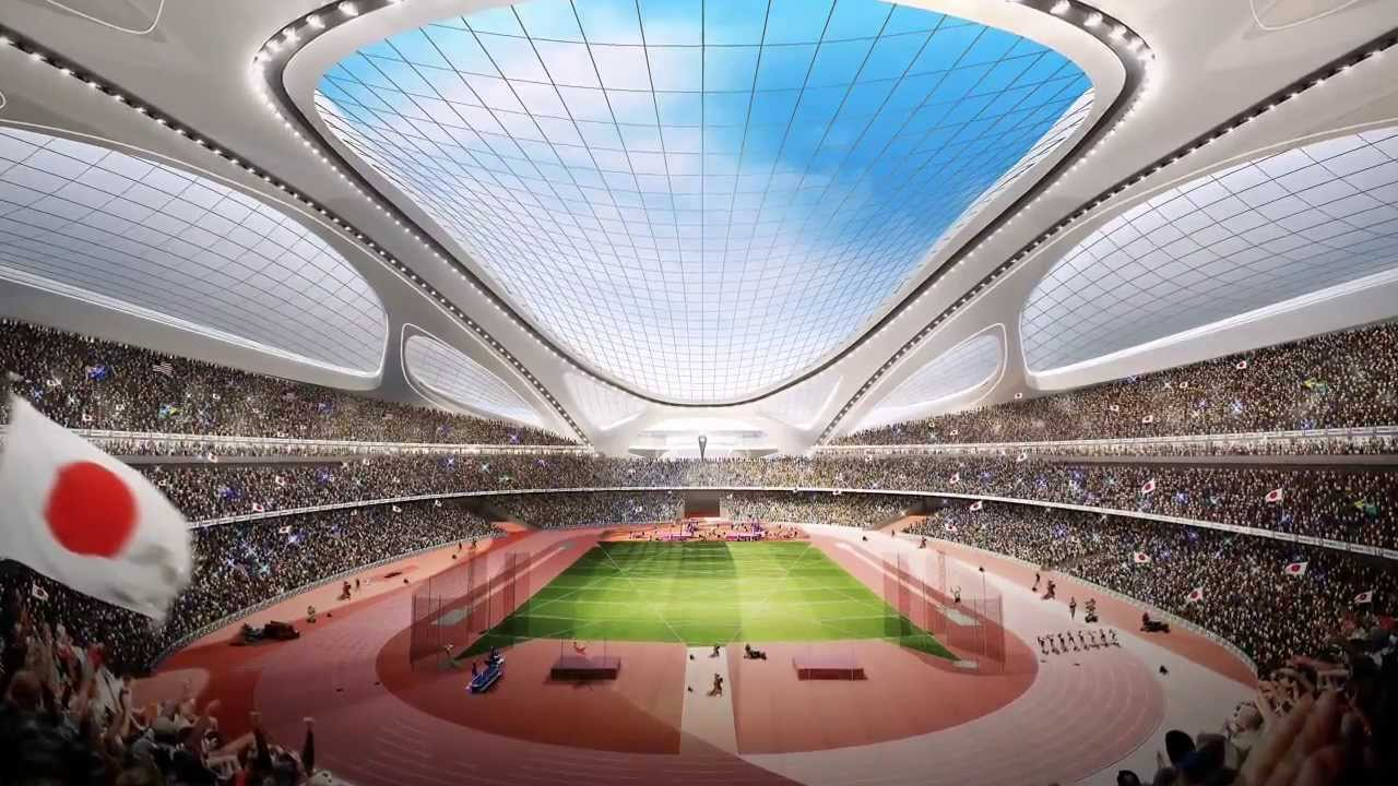 New National Stadium for Tokyo 2020 Summer Olympics [HD] - YouTube
