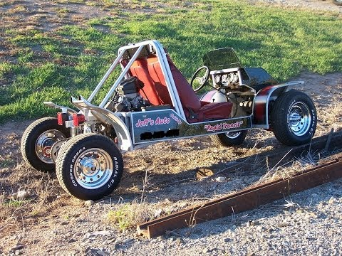 Homemade Go Kart  Extreme Ride & Burnouts - NEW-