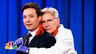 [Harrison Ford Pierces Jimmy Fallon's Ear] Video