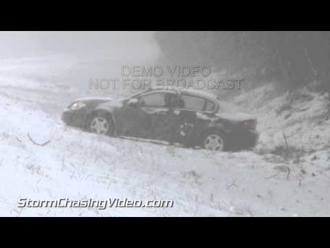 2/12/2014 Rocky Mount North Carolina Heavy Snow Winter Storm B-Roll