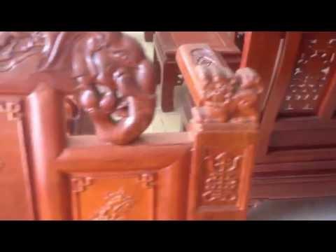 Bộ bàn ghế gỗ hương vân