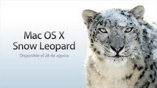 Como Descargar Mac OS X Snow Leopard 10.6 Gratis En Esp