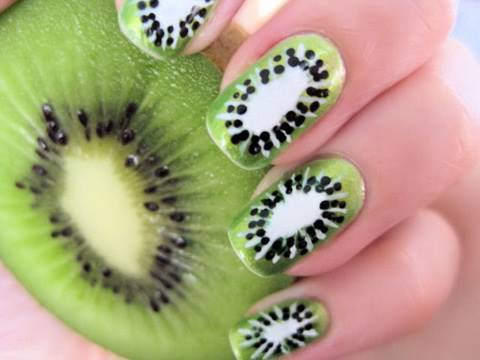 Kiwi Nail Art, Perfect for summer
