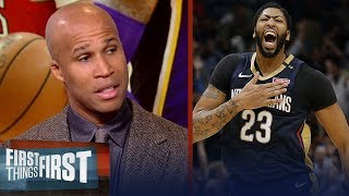 Richard Jefferson says AD is the 'most likely' choice to join the Lakers | NBA | FIRST THINGS FIRST