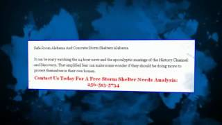 [Tornado Shelters Alabama] Video