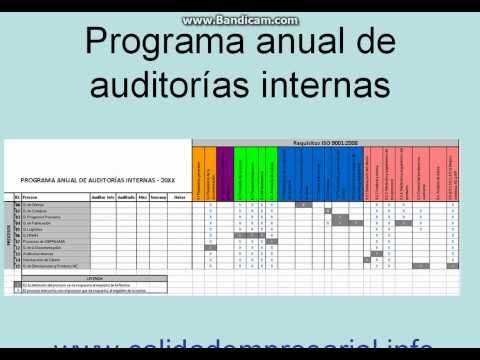 Plan de Auditoria Interna de Auditorías Internas