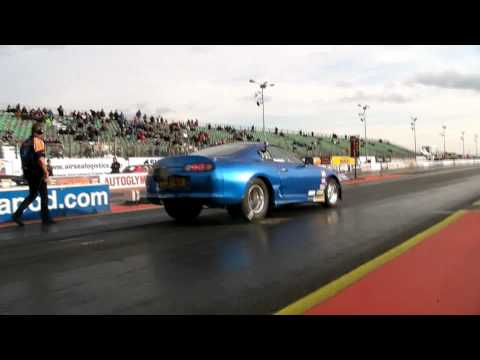 1400+HP 8.7 second Quarter mile Street Legal Drag Supra on Pump fuel