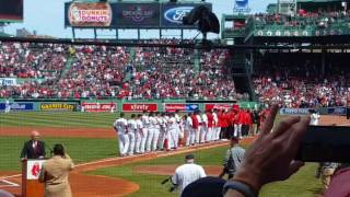 Red Sox Opening Day Fenway Park 4/3/2017
