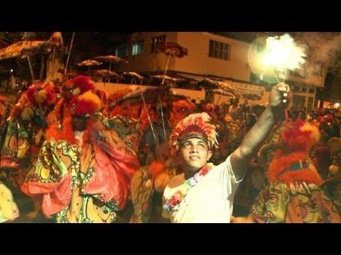 'Bate-bolas' en carnaval de Rio