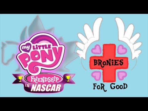 MLP Friendship in NASCAR Restart: Bronies For Good Themed Car