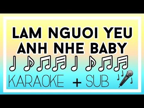 {Karaoke + sub} Làm người yêu anh nhé baby- Nguyen~ Jenda + beat nhac