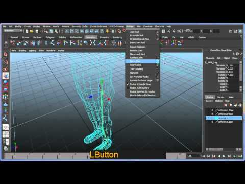 Basic bipedal character rigging setup in Maya - Part 1 of 7