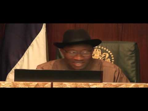 President Goodluck Jonathan Condemns Bribery and Corruption in Public Service