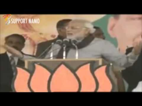 Narendra Modi attacks Congress for targeting Baba Ramdev !!