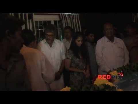 Ultimate Star Ajith Kumar and Shalini Ajithkumar Pay Homage to Tamil Poet Vaali