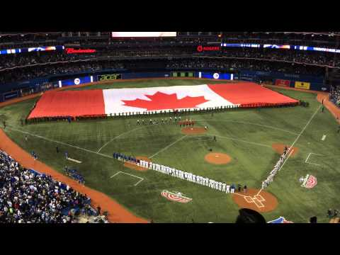 2014-04-04 Toronto Blue Jays Home Opener National Anthem + Roy Halladay