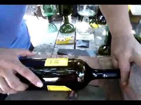 Como hacer copas con botellas de vidrio