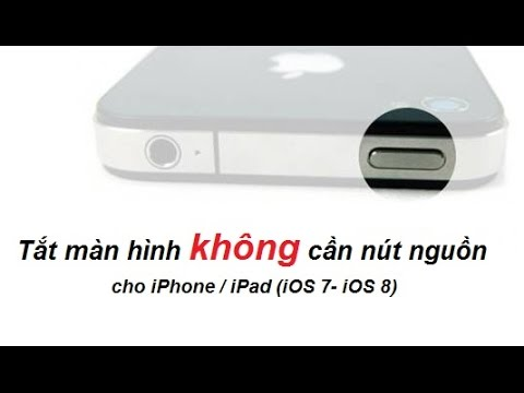 2 tắt màn hình iPhone không dùng nút nguồn iOS 7- iOS 8