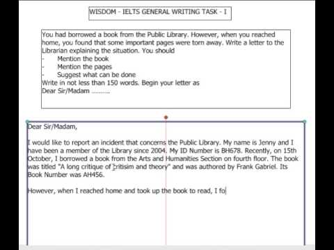 1.1 - IELTS General Writing Task 1