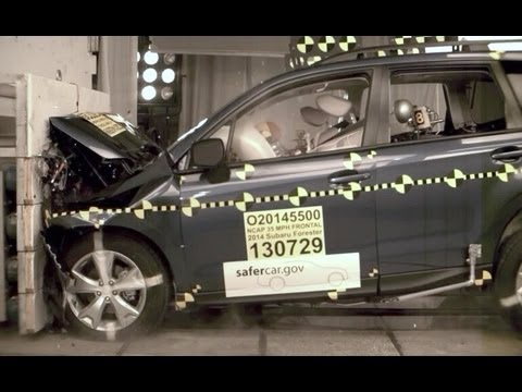 2014 Subaru Forester | Frontal Crash Test by NHTSA | CrashNet1