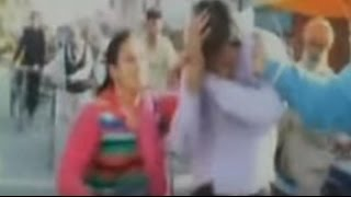 Woman Beats Up Gas Agency Agent On The Street- Caught On Cam