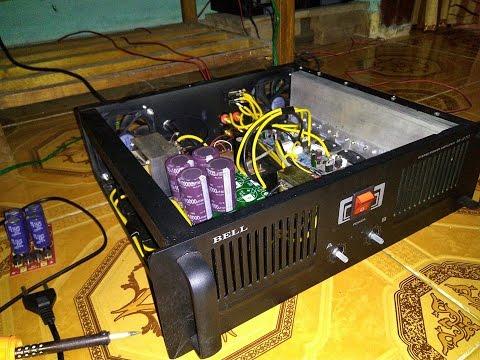cara merakit power amplifier 400 watt stereo