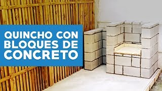 Parrilla con bloques de concreto