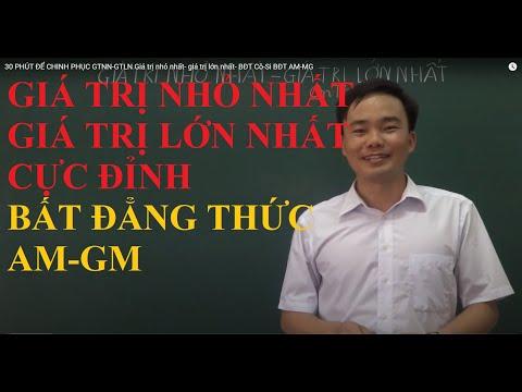 GTNN-GTLN Giá trị nhỏ nhất- giá trị lớn nhất- BĐT Cô-Si BĐT AM-MG