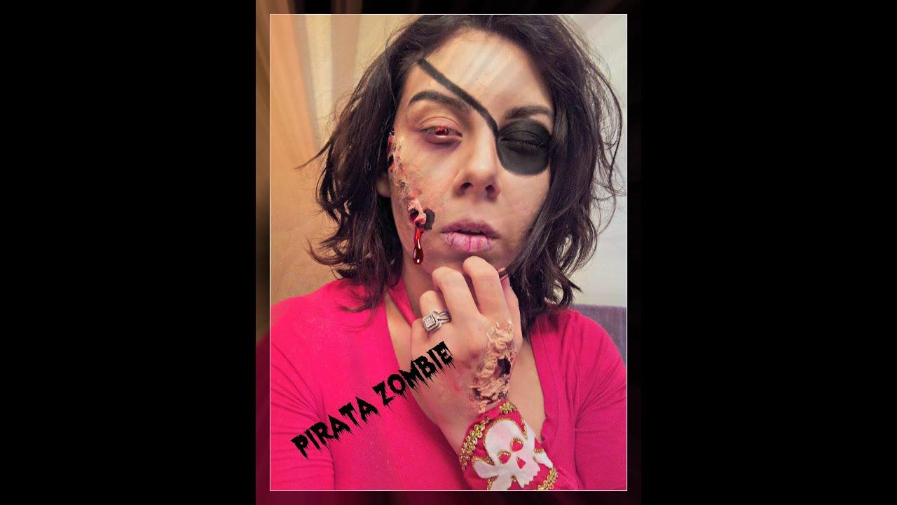 Maquillaje para halloween pirata zombie facil youtube - Maquillaje pirata nina ...