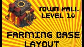 Clash Of Clans Best TH10 Farming Base Layout