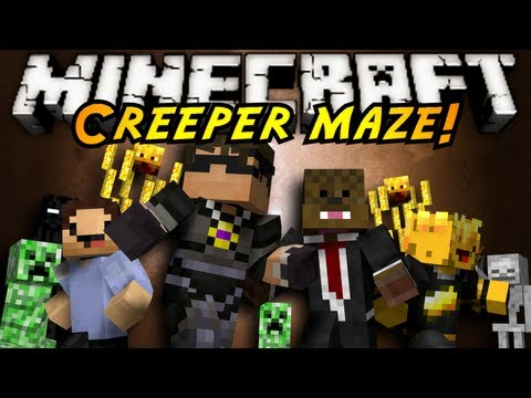 Minecraft Mini-Game : INFINITE CREEPER MAZE!,