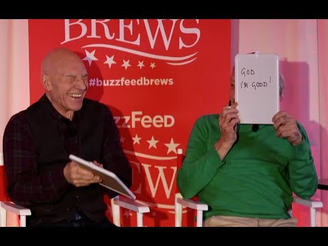 Sir Patrick Stewart and Sir Ian McKellen Play The Newlywed Game
