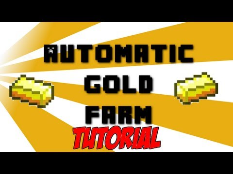 Automatic Gold Farm Tutorial 1.8 READY - Minecraft (SMP Friendly)