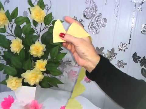 Aula 8 - Flores de Papel Crepom - Novidade!!!!!