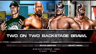 WWE '13 John Cena & The Rock Vs. The Legion Of Doom (Two