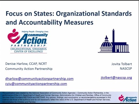 Focus on States Organizational Standards and Accountability Measures