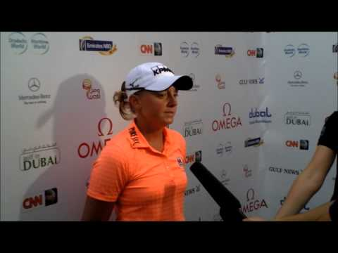 Stacy Lewis after her second round 65 at the Omega Dubai Ladies Masters