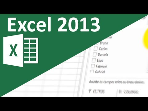 Aula de Excel 2013 - Tabelas dinâmicas